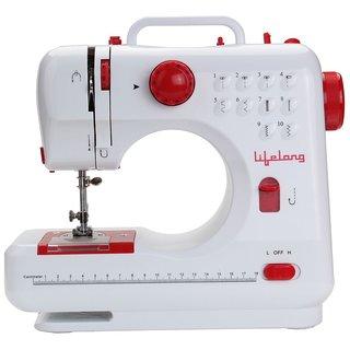 Lifelong SM21 10 Stitch 7-Watt Sewing Machine with foot pedal and light