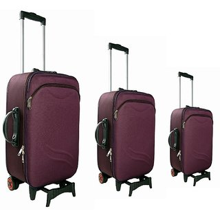 Purple Trolley Bag Set Of 3 ( 20'24'28 )