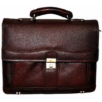 Bag Jack -The Sleek And Structured Vulpecula Briefcase Style Brown Color Leather