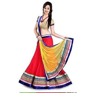 Womens Net Lace Lehenga Choli