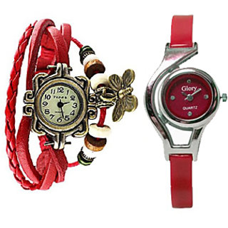 Two Fancy watches Combo Butterfly  Glory Brandedking By miss