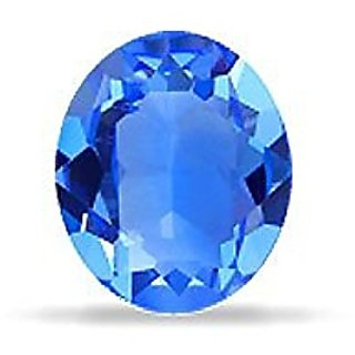 7.25 ratti 100 Natural  blue sapphire(neelam) By Lab Certified