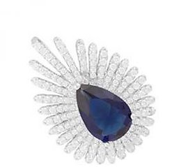 Pendant 925 Sterling Silver Jewellery Original with Cubic Zirconia