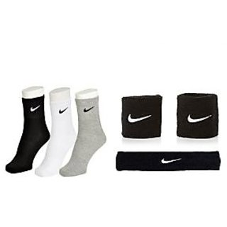 Ankle Length Sports Socks-3 Pairs with Head Band  Pair of Wrist Band