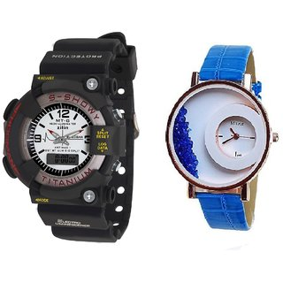MTG Men and Mxre  Blue Women Watches Couple for Men and women by miss