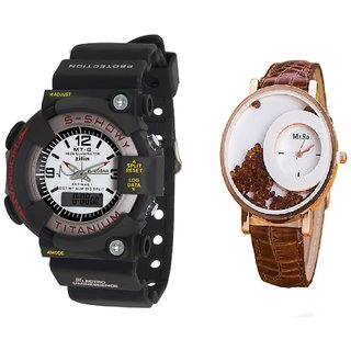 MTG Men and Mxre  Brawn Women Watches Couple for Men and women by miss