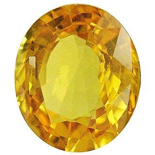 Jaipur Gemstone 5.44 ratti yellow sapphire(pukhraj)