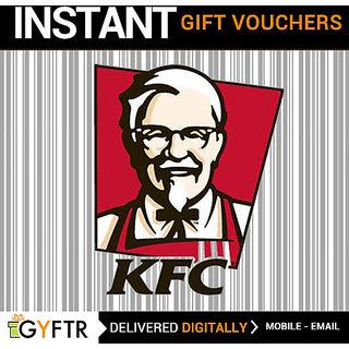 KFC GyFTR Insta Gift Voucher INR 500