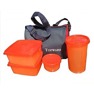 buy 1 get 1 freeTopware Lunch Box With 4 pcs. Food Grade Containers and Insulated Bag
