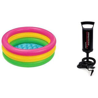 Jainsoneretail Intex Combo 3 Feet Kids Water Bath Tub With Air Pump