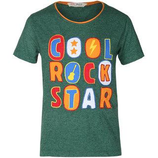 Holy Brats Boy's Green T-shirt