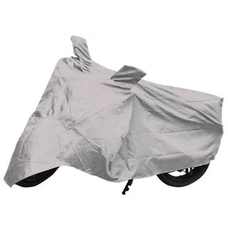 VMASHOPPERS Bike Body Cover Silver For Mahindra Flyte SYM Scooty