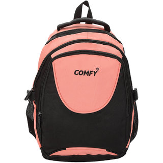 Comfy Black And Peach Casual Backpack (26 Litters)