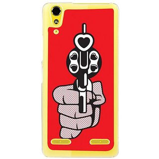 Fuson Designer Phone Back Case Cover Lenovo A6000 Plus ( Shooting Out Love From Guns )