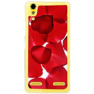 Fuson Designer Phone Back Case Cover Lenovo A6000 Plus ( Roses And Those Petals )