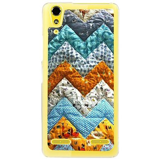 Fuson Designer Phone Back Case Cover Lenovo A6000 Plus ( Zigzag Design Made Of Cloth )