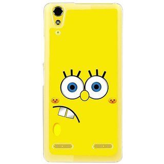 Fuson Designer Phone Back Case Cover Lenovo A6000 ( Face Of Smiley Square Pants )