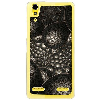 Fuson Designer Phone Back Case Cover Lenovo A6000 ( Carbon Black Patterns )