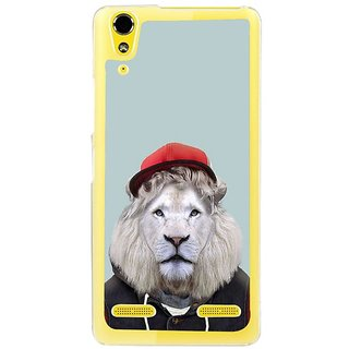 Fuson Designer Phone Back Case Cover Lenovo A6000 ( Lion In Red Hoodie )