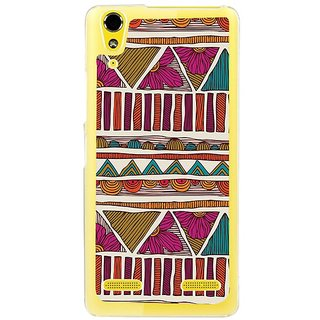 Fuson Designer Phone Back Case Cover Lenovo A6000 ( Ethnic Designs And Flowers )