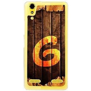 Fuson Designer Phone Back Case Cover Lenovo A6000 Plus ( Graffiti Of G On Wood )