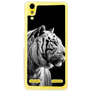 Fuson Designer Phone Back Case Cover Lenovo A6000 ( An Observant Tiger In Black )