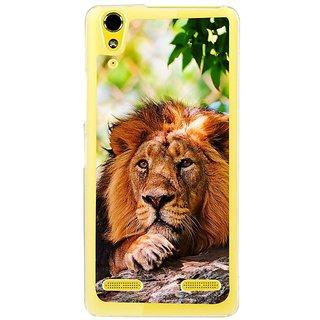 Fuson Designer Phone Back Case Cover Lenovo A6000 ( Lion In Deep Thoughts )
