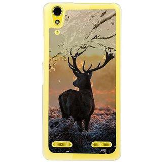 Fuson Designer Phone Back Case Cover Lenovo A6000 ( Swamp Deer With Beautiful Background )