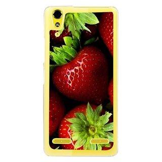 Fuson Designer Phone Back Case Cover Lenovo A6000 Plus ( Fresh Strwberries With Leaves )