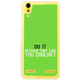 Fuson Designer Phone Back Case Cover Lenovo A6000 ( Prove The World )