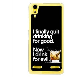 Fuson Designer Phone Back Case Cover Lenovo A6000 ( Old Habits Never Die )