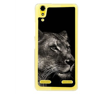 Fuson Designer Phone Back Case Cover Lenovo A6000 Plus ( Black And White Lion'S Face )