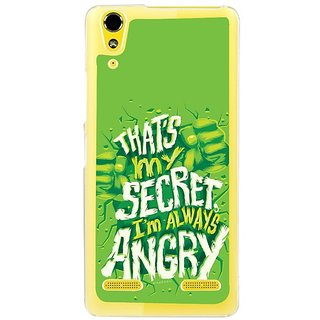 Fuson Designer Phone Back Case Cover Lenovo A6000 ( Secret I Am Always Angry )