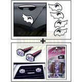 Mini Davil Car Door Guard / Scratch Guard + Vent Clip  AC Vent Car Air Freshener / Perfume