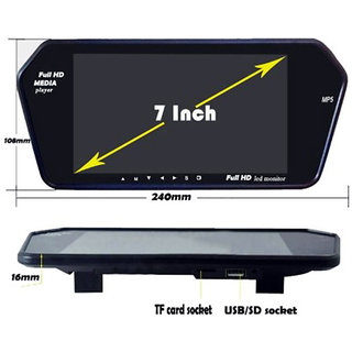 RWT 7 Inch Car Video Monitor Full HD Screen For Hyundai I10 Type 1