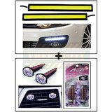 High Dentisity Car Day Time Running Light (DRL) + Vent Clip  AC Vent Car Air Freshener / Perfume