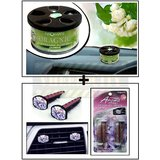 Aromate Jasmine Dashboard Car Air Freshener + Vent Clip  AC Vent Car Air Freshener / Perfume