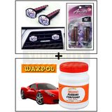 Vent Clip  AC Vent Car Air Freshener / Perfume + Waxpol Rubbing Compound Car Wax / Polish