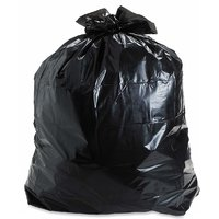 150 Pieces Black Disposable Garbage / Dust Bin Bag (19X21 Inch) - 123123-000181