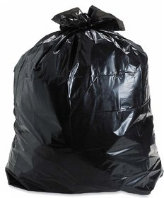 150 Pieces Black Disposable Garbage / Dust Bin Bag (19X21 Inch) - 123123-000181