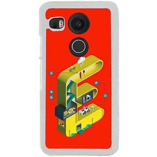 Fuson Designer Phone Back Case Cover LG Nexus 5X ( Stylish Looking Letter E )