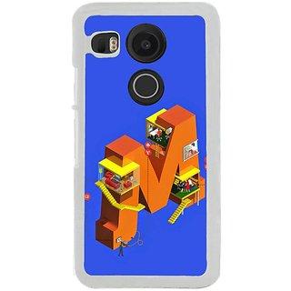 Fuson Designer Phone Back Case Cover LG Nexus 5X ( Living In The Letter M )