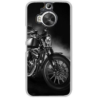 Fuson Designer Phone Back Case Cover HTC One M9 Plus ( Bike With Smoke Around )