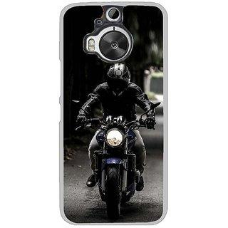 Fuson Designer Phone Back Case Cover HTC One M9 Plus ( Person Riding The Bike )