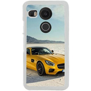 Fuson Designer Phone Back Case Cover LG Nexus 5X ( Car On The Plains )