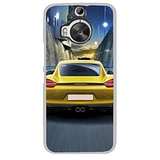 Fuson Designer Phone Back Case Cover HTC One M9 Plus ( Back Side Of The Car )