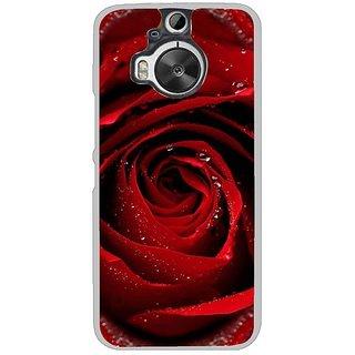 Fuson Designer Phone Back Case Cover HTC One M9 Plus ( Bright Red Rose )