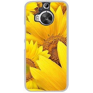 Fuson Designer Phone Back Case Cover HTC One M9 Plus ( Bunch Of Sunflowers )