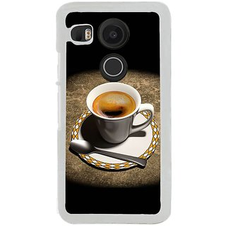 Fuson Designer Phone Back Case Cover LG Nexus 5X ( Coffee In Cup And Saucer )