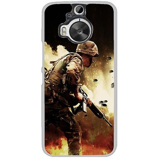 Fuson Designer Phone Back Case Cover HTC One M9 Plus ( Soldier In The Battle )